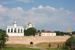Landscape with a kind on Kremlin Royalty Free Stock Image