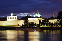 Landscape with a kind on Kremlin Royalty Free Stock Photo