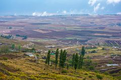 Landscape in the kingdom of Lesotho, Africa. Royalty Free Stock Photography