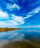 Landscape of Kinneret Lake - Galilee Sea Stock Photo