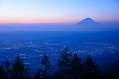 Landscape of Kofu and Mt.Fuji Stock Photos
