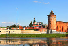 Landscape with Kolomna Kremlin Royalty Free Stock Images