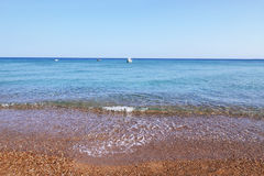 Landscape of Koroni beach Peloponnese Greece Stock Images