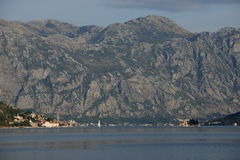 Landscape of Kotor bay in Montenegro Stock Photos