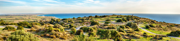 Landscape of Kourion, an ancient city in Cyprus Royalty Free Stock Images