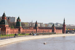 Landscape at the Kremlin wall Stock Image