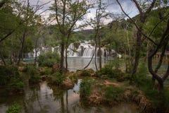 Landscape of KRKA National Park waterfalls Stock Photos
