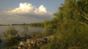 Landscape Kuban river Royalty Free Stock Images