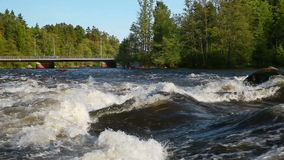 Landscape of Kymi river in Finland stock video footage