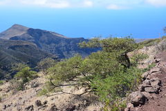 A landscape of La Gomera island , the Canaries Royalty Free Stock Images