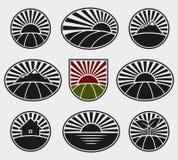 Landscape labels set. Vector. Vineyard, business, symbol royalty free illustration