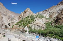 Landscape in Ladakh, India Royalty Free Stock Photo