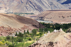 Landscape of Ladakh, Jammu and Kashmir, India Royalty Free Stock Photo