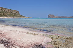 Landscape at lagoon Balos in Crete Stock Images