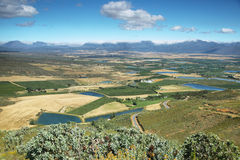 Landscape of lagoons and vineyards from Gydo Pass, Royalty Free Stock Photo