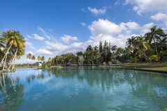 Landscape in Lagos de Mayajigua or San Jose del Lago-Cuba Royalty Free Stock Photo