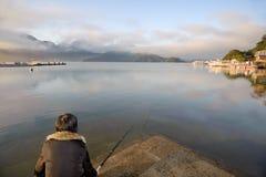Landscape of lake Stock Images