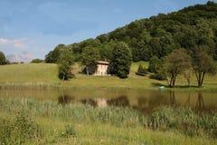 Landscape of lake Stock Image