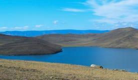 Landscape with the lake Baikal Royalty Free Stock Image
