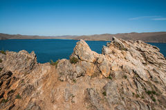 Landscape with lake Baikal, Russia Royalty Free Stock Photos