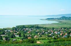 Landscape of Lake Balaton Stock Photos