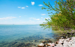 Landscape of Lake Balaton Stock Image