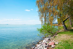 Landscape of Lake Balaton Stock Photo