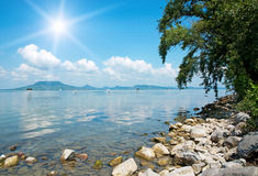 Landscape of Lake Balaton, Hungary Royalty Free Stock Photography
