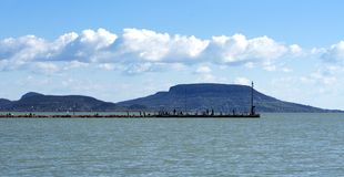 Landscape at Lake Balaton, Royalty Free Stock Photography