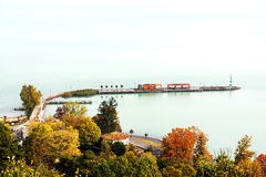 Landscape of Lake Balaton, Tihany Royalty Free Stock Photos
