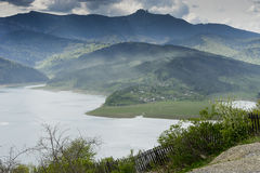 Landscape of lake Bicaz Romania Royalty Free Stock Photography