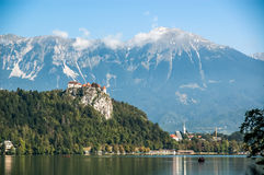Landscape of Lake Bled Stock Photos