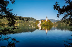 Landscape of Lake Bled Stock Photography