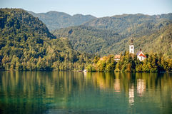 Landscape of Lake Bled Royalty Free Stock Images