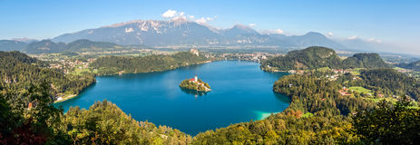 Landscape of Lake Bled. Slovenia Stock Photo