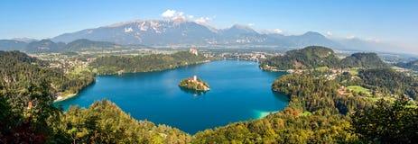 Landscape of Lake Bled Stock Photo
