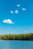 Landscape on a lake with blue sky Royalty Free Stock Image