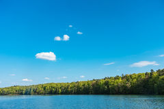 Landscape on a lake with blue sky Royalty Free Stock Images