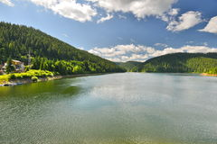 Landscape with lake and forest at Fantanele resort. Royalty Free Stock Image