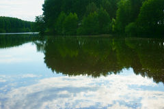 Landscape Lake, forest, sky Royalty Free Stock Images