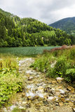 Landscape with lake Galbenu in Romania Royalty Free Stock Image