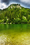 Landscape with lake Galbenu in Romania Royalty Free Stock Images