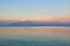 Landscape of Lake Garda Stock Photos