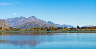 Landscape of lake Hayes. New Zealand Royalty Free Stock Photo