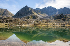 Landscape of a lake in the high mountains Royalty Free Stock Images