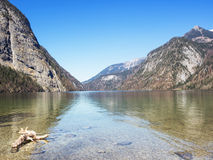 Landscape at lake Koenigssee, Berchtesgaden, Bavarian Alps, Germany Royalty Free Stock Photography