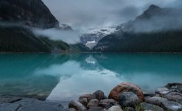 Landscape of Lake Louise, Canada stock photos