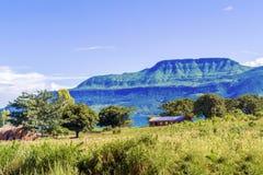 Landscape at the lake Malawi Stock Image