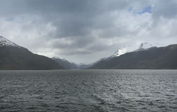 Landscape with lake and mountains. Patagonia Stock Photography