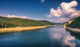 Landscape with lake Oasa in Romanian Carpathians, Transalpina. Landscape with lake Oasa in Romanian Carpathians, Transalpina Royalty Free Stock Photography